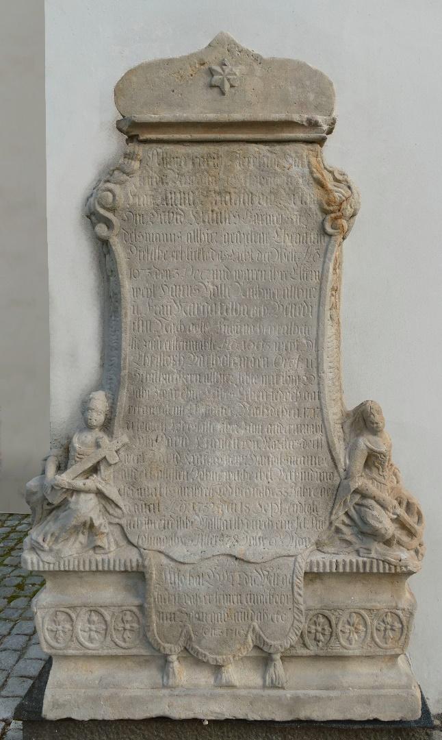 1. Epitafium ku czci żony Dawida Handelsmanna +1732