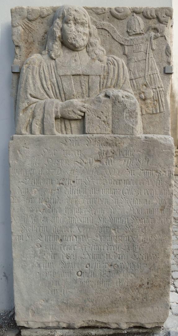 2. Epitafium ku czci protestanckiego duchownego.