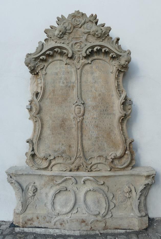 3. Epitafium ku czci Anny Elizabeth / * 1757 +1776/ i Christiana Davida / * 1755 +1757/, rodzeństwo Krause.