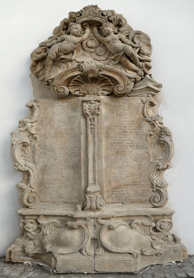 4. Epitafium ku czci Marii / *1719 +1785/ i Davida / *1693 +1770/, małżeństwa Krause.