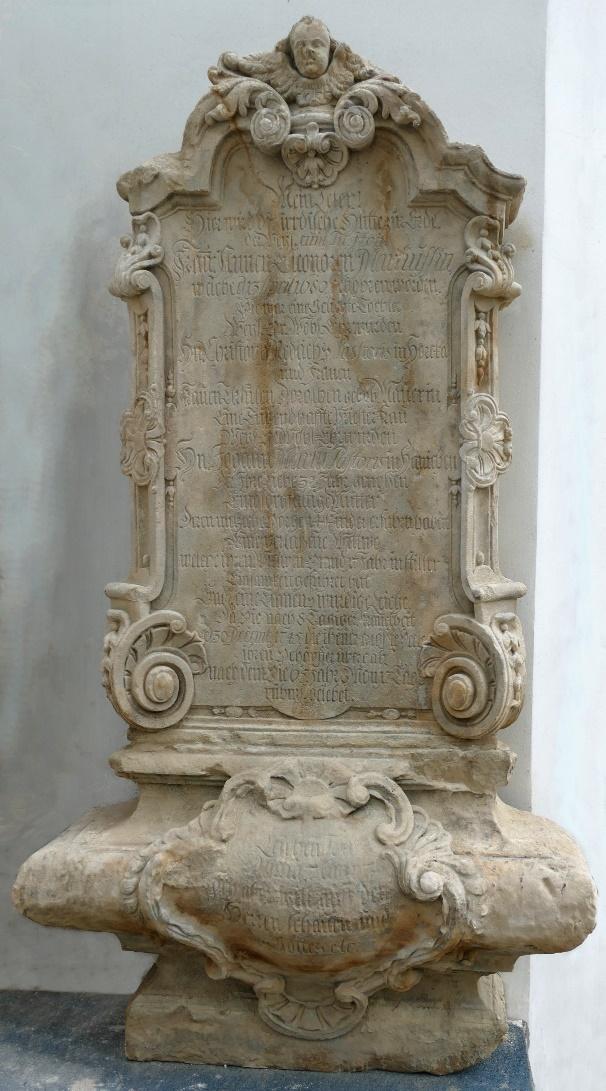 6. Epitafium ku czci Christiny Eleonory Matüs /*1680 +1745/
